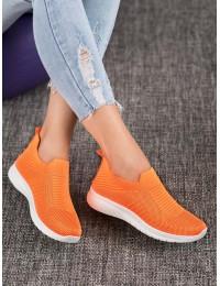 Ryškūs oranžinės spalvos elastingi lengvi patogūs bateliai - BB73OR