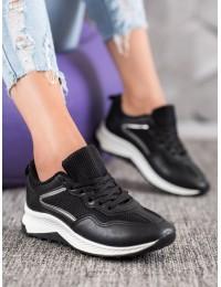 Klasikiniai juodi SNEAKERS modelio batai - GT88-903B