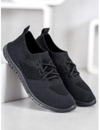 Lengvi juodi stilingi patogūs laisvalaikio stiliaus bateliai - ANH20-13529B