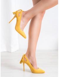 Ryškūs išskirtiniai geltoni aukštakulniai - LE072Y