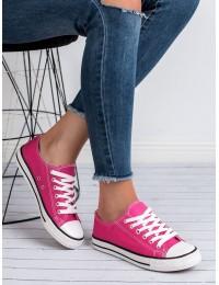 Ryškios rožinės spalvos stilingi laisvalaikio bateliai kasdienai\n - JD05RO