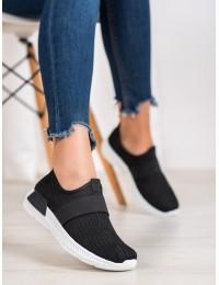 Juodi stilingi aukštos kokybės laisvalaikio stiliaus batai - 7-K2026B