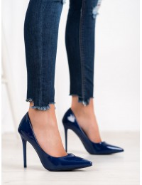 Lakuotos odos mėlyni elegantiški aukštakulniai - 5015-48BL