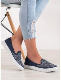 Stilingi SLIP ON stiliaus tamsiai mėlyni bateliai - WI-32-195N