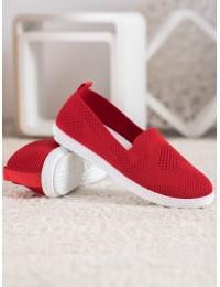 Raudonos spalvos stilingi lengvi ir patogūs bateliai\n - ZK099ROSSO