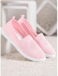 Rožinės spalvos stilingi lengvi ir patogūs bateliai\n - ZK099ROSA