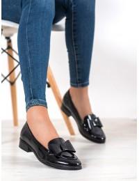 Elegantiški dalykinio stiliaus juodi bateliai - XY21-10570B