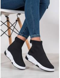 Madingi juodos spalvos patogūs batai - FC808B
