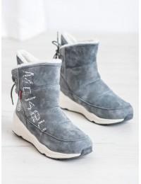 Natūralios odos šilti batai su avikailiu - DBT1067/19GR