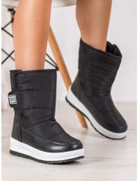 Šilti lengvi juodos spalvos batai - DS8826B