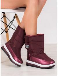 Šilti lengvi bordo spalvos batai - DS8826R