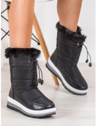 Šilti lengvi juodos spalvos batai - DS8823B