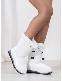 Šilti lengvi baltos spalvos batai - DS8823W