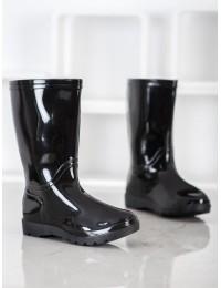 Juodos spalvos klasikiniai guminiai batai - HMY-905B