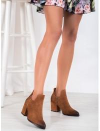Madingi aukštos kokybės rudi zomšiniai batai - XY21-10558C