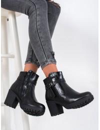 Juodi stilingi batai su madingais krokodilo odos rašto motyvais - A8138B