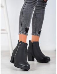 Juodos spalvos klasikinio stiliaus patogūs šilti batai - S1824B