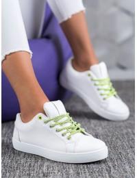 Baltos spalvos stilingi aukštos kokybės bateliai\n - BO-275W/Y