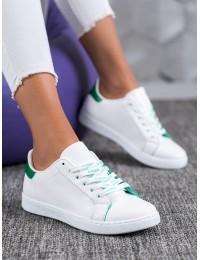 Baltos spalvos klasikiniai suvarstomi stilingi bateliai - 5G-2GR