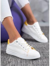 Baltos spalvos klasikiniai suvarstomi stilingi bateliai - TS-511Y