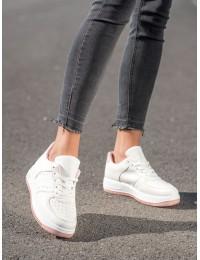 Balti stilingi odiniai bateliai kasdienai - BL3619P