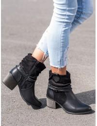 Juodi kaubojisko stiliaus batai - GD-ZN85B