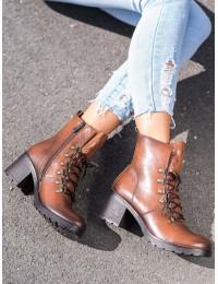 Aukštos kokybės eko odos batai tvirtu padu - XY21-10552BR