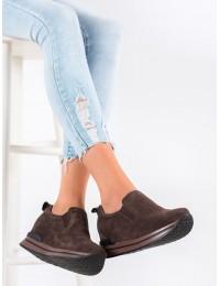 Rudi natūralios odos madingi aukštos kokybės batai - DBT1512/20BR