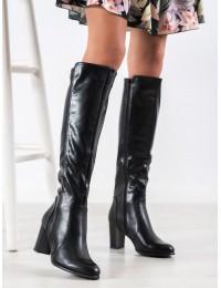 Visuomet stilingi juodos spalvos odiniai ilgaauliai - KZ275B
