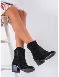 Madingi kaubojiško stiliaus zomšiniai batai - DBT1622/20B