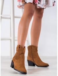 Madingi kaubojiško stiliaus zomšiniai batai - DBT1622/20C
