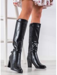Elegantiški juodi odiniai ilgaauliai - KZ290B