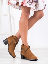 Zomšiniai aukštos kokybės stilingi batai su dekoratyviu dirželiu - HX21-16200C