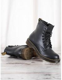 Madingi aukštos kokybės matinės odos juodi batai - NC1019B