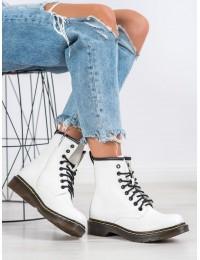Madingi aukštos kokybės odos balti batai - NC1019W