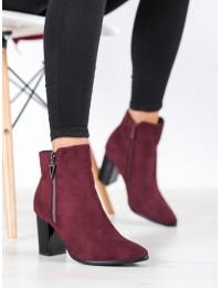 Zomšiniai elegantiški bordo spalvos aukštos kokybės batai - HX21-16189BUR