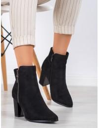 Zomšiniai elegantiški juodos spalvos aukštos kokybės batai - HX21-16189B