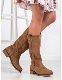 """Stilingi zomšiniai """"Camel"""" spalvos batai laisvu aulu - ST-19C"""