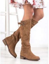 Stilingi gražios rudens spalvos aukštos kokybės zomšiniai ilgaauliai - ST-20C