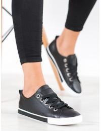Juodos spalvos laisvalaikio stiliaus batai kasdienai - LA89B