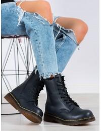 Natūralios odos juodi madingi batai storu padu - GL429/20N