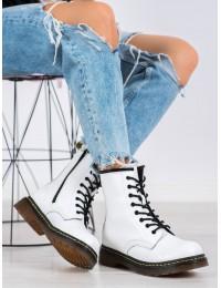 Natūralios odos balti madingi batai storu padu - GL429/20W