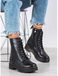 Natūralios odos juodi aukštos kokybės madingi batai - GL438/20B