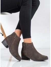 Natūralios versto odos chaki spalvos stilingi batai - DBT1088/20T