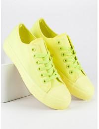Ryškios geltonos spalvos bateliai - 825-1-A-Y