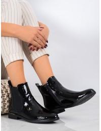 Prabangios juodos lakuotos odos stilingi elegantiški batai - DBT1568/20B
