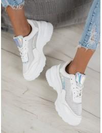 Madingi baltos spalvos batai su patogia platforma - F3232W