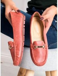 Klasikinio stiliaus patogūs raudoni mokasinai - 9F181R