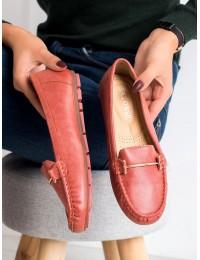 Klasikinio stiliaus patogūs raudoni mokasinai - 9F179R