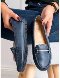 Klasikinio stiliaus patogūs mėlyni mokasinai - 9F179N